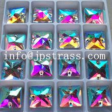Popular elegante decoracion de vidrio cuadrado talon para vestir