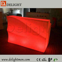 Alibaba hot sale remote control illuminated mobile illuminated led round bar counter for outdoor events