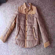 shiny nylon down jacket for men winter warm thick down filled coat