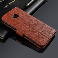 Chian Wholesale Manufacturer High Quality PU Leather Promotional Simple Product Best Friend Colorful Phone Case for HTC One M7
