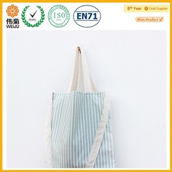 Stripe beach cotton shopping bag