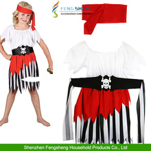 KIDS HIGH SEAS BUCCANEER PIRATE WENCH CHILD Age 3-10 Girls Fancy Dress Costume