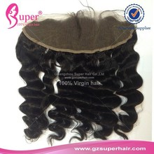 Lace frontal closure loose wave virgin brazilian hair weave colours