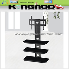 new design high quality tempered glass lcd sumang tv stand/tv table/tv cabinet