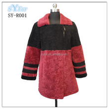 fashion long style 100% Australian imported sheep fur ladies pashm cashmere coat and jacket with Sheepskin material for women
