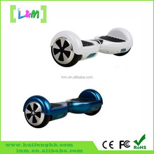 Fashionable smart self balancing electrical scooter with two wheels and LED lights
