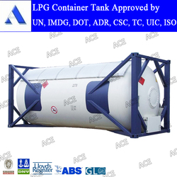 AMSE standard 20ft 40ft lpg gas tank container for sale