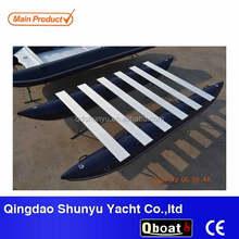 CE14ft korea pvc material inflatable pontoon fishing boat