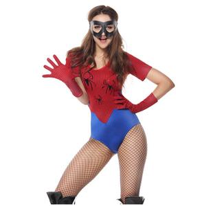 Пикантные Amazing Spider девушка бюстье женский костюм для Хэллоуина с маской