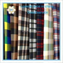 Hot sale 100% polyester plaid printed polar fleece fabric