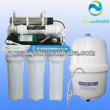 Doméstica 6 etapas del sistema ro con uv, purificador de agua/filtro de agua