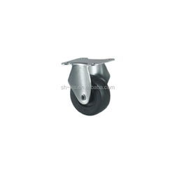 big top plate swivel caster black PU wheel 3""
