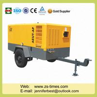 13bar Movable Screw Air Compressor electrical coal mine portable screw air compressor