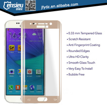 hot sales for galaxy S6 edge plus 0.2mm full cover 3D curved tempered glass screen protector