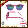 david fg2110 oakleyable estilo de color rosa lente de espejo de plástico gafas de sol de la bisagra