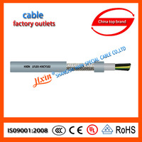 Double PVC jacket,tinned copper braid shieled flexible cable control system cable