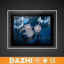 2015 high quality A0 A1 A2 A3 A4 led crystal light box frame with acrylic steel