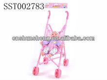 productos para bebés de algodón muñeca cochecito de la carretilla con la muñeca de juguete sst002783