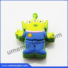 Cartoon Aliens shaped blank usb stick customized pen drive usb flash drive storage cases