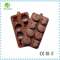8-piece with Two different shaped food grade silicone chocolate baking mold for DIY Cake/Cookie decoration