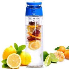 Tritan sport plastic infuser bottle/BPA free water bottle infuser/fruit infused water jug