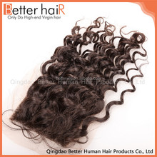 Unique Design New arrival indian remy curly lace front closure