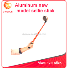 New mini wireless bluetooth monopod selfie stick with bluetooth remote shutter for mobile phone