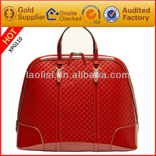 Hot sale red patent leather handbags ladies leather vanity bag