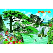 Home decoration print spectacular mountain waterfall painting