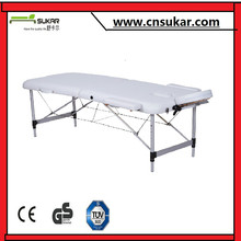 Adjustable Height Aluminum Facial Massage Bed