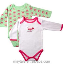 top quality long sleeve baby bodysuit of cute design and soft cotton fabric