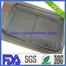 Silver Tone Stainless Steel Mesh Tea Leaves Spice Strainer wire mesh basket