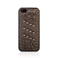 Metal Skull Studs Soft Stitched Case Phone Cover for iPhone 5 5S