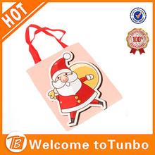 Xmas decorative candy bag customized printed christmas santa claus