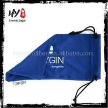 Hot selling wholesale microfiber polyester sunglasses pouches with drawstring,microfiber 100% polyester sunglasses pouch
