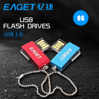 EAGET U5 lovers USB disk 8G USB2.0 Waterproof Metal Memory Flash Stick pen drive couple rotation USB Flash drives BLUE RED