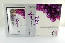 De semilla de uva& blanqueamiento hidratante friming máscara facial