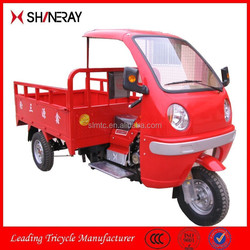 2015 New Product OEM Shineray Gasoline Powered Cargo Tricycle With Semi Closed Cabin