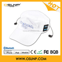 CE Rohs approved Sports stylish Bluetooth baseball cap, easy communication with hands free
