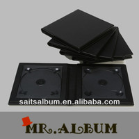 142mmx132mm DVD custom DISC CD case in leather