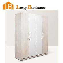 LB-DD3117 Home furniture bedroom oak grain melamine wardrobe