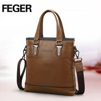 Real Leather Satchel Men Briefcase Business Handbags Factory Price