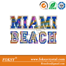 miami beach cartas magnético al por mayor cristal de strass joyería del grano
