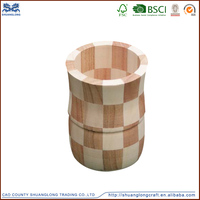 Shandong art mind wood flower vase wood craving craft , best selling wooden crafts