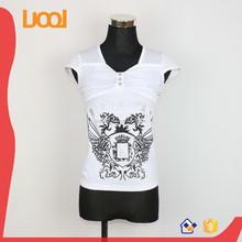 custom printing cap sleeve t-shirt with white