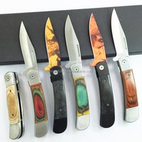 8 Inch stainless steel color wood handle seaman folding pocket knife