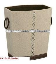 Fashion Linen Waste Bin with Handles Trash Can (B03-075)