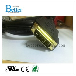 Durable new arrival 3 rca to dvi cable