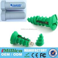 64GB Soft PVC screw bolt shaped usb flash drive gift 100% real capacity usb flash disk memory USB 2.0 with key chain