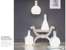bianco moda arte bottiglia di vetro della lampada calata personalità contratto combinazione ristorante tavolo lampade e lanterne